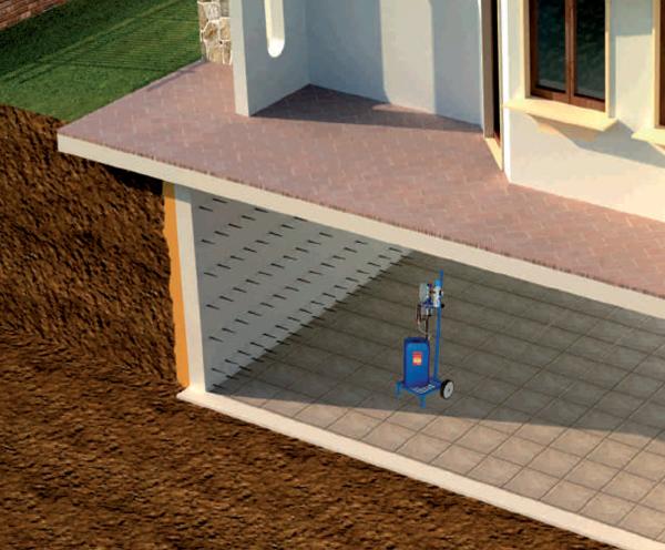 Umidità di controspinta nel piano interrato della casa
